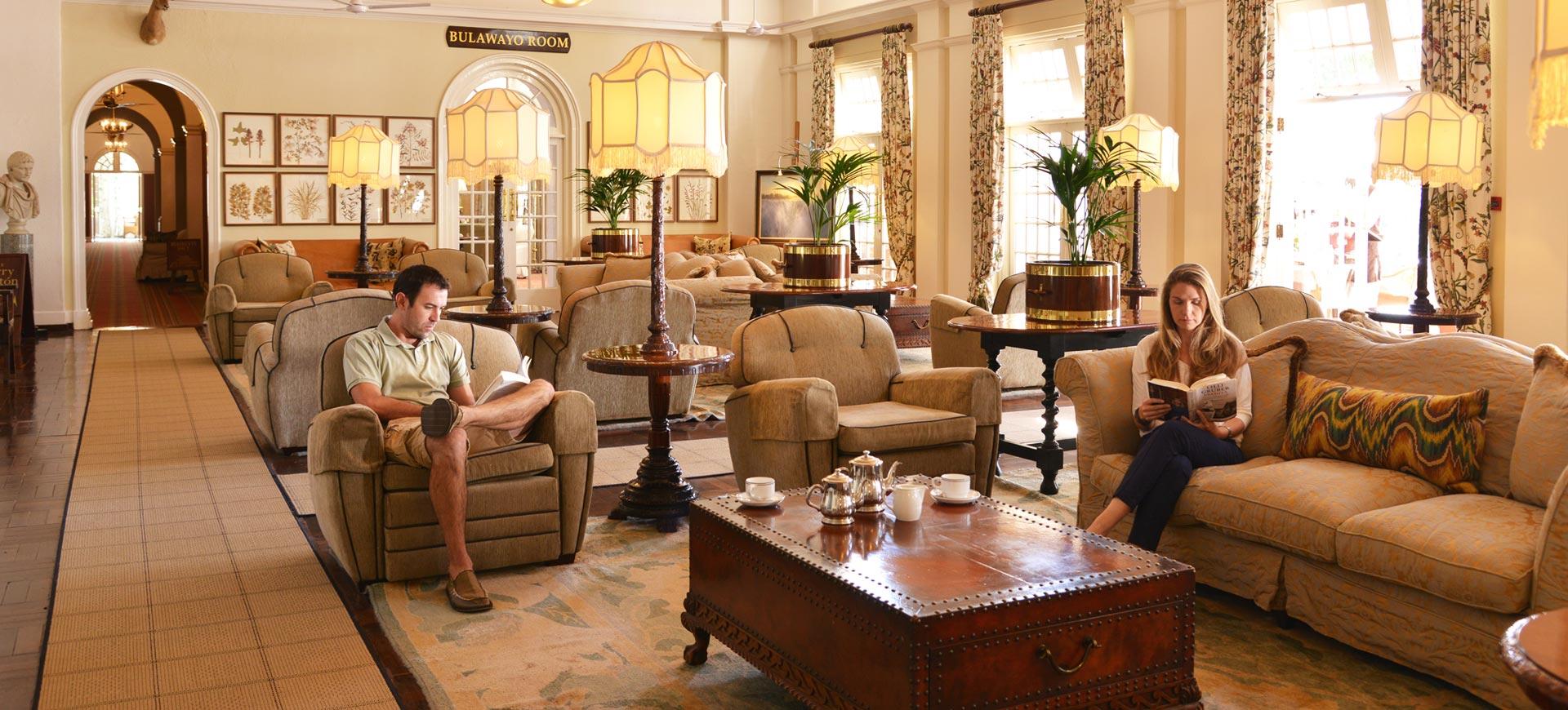 The Victoria Falls Hotel Lounge