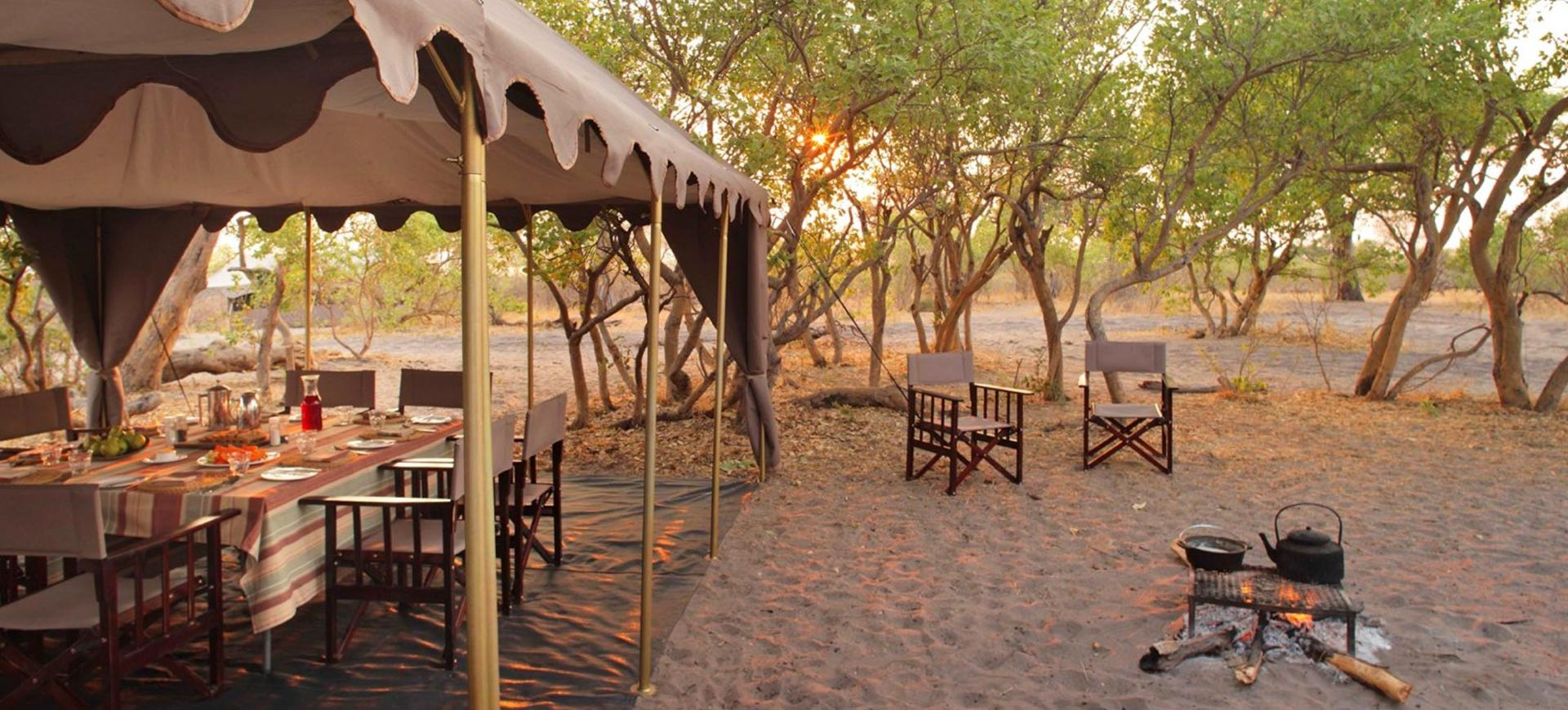 Chobe Under Canvas Fire