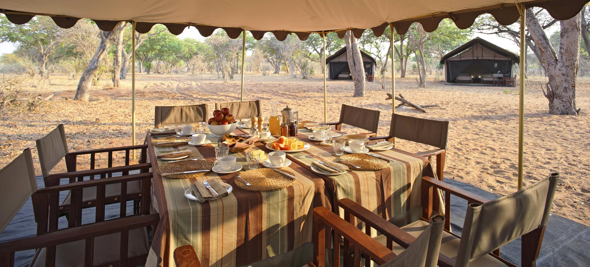Chobe Under Canvas Main Area