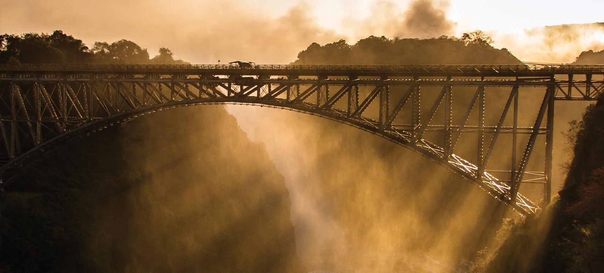Steam Train Bridge Victoria Falls