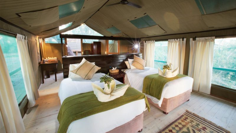 Accommodation Gunns Tented Camp Okavango Delta